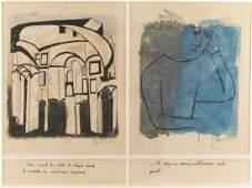 Ben Shahn Lithograph Set of 2