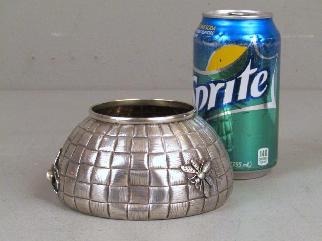 Ovchinnikov Russian Silver Honey Pot - 2