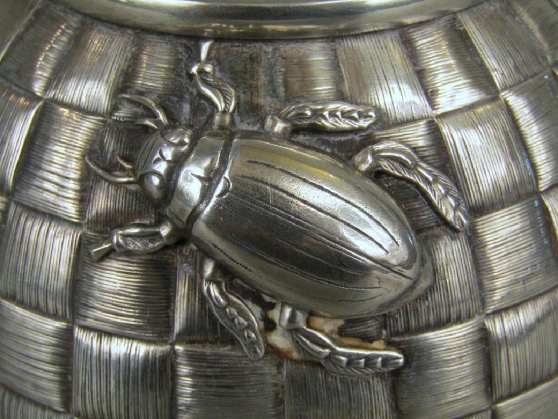 Ovchinnikov Russian Silver Honey Pot - 3