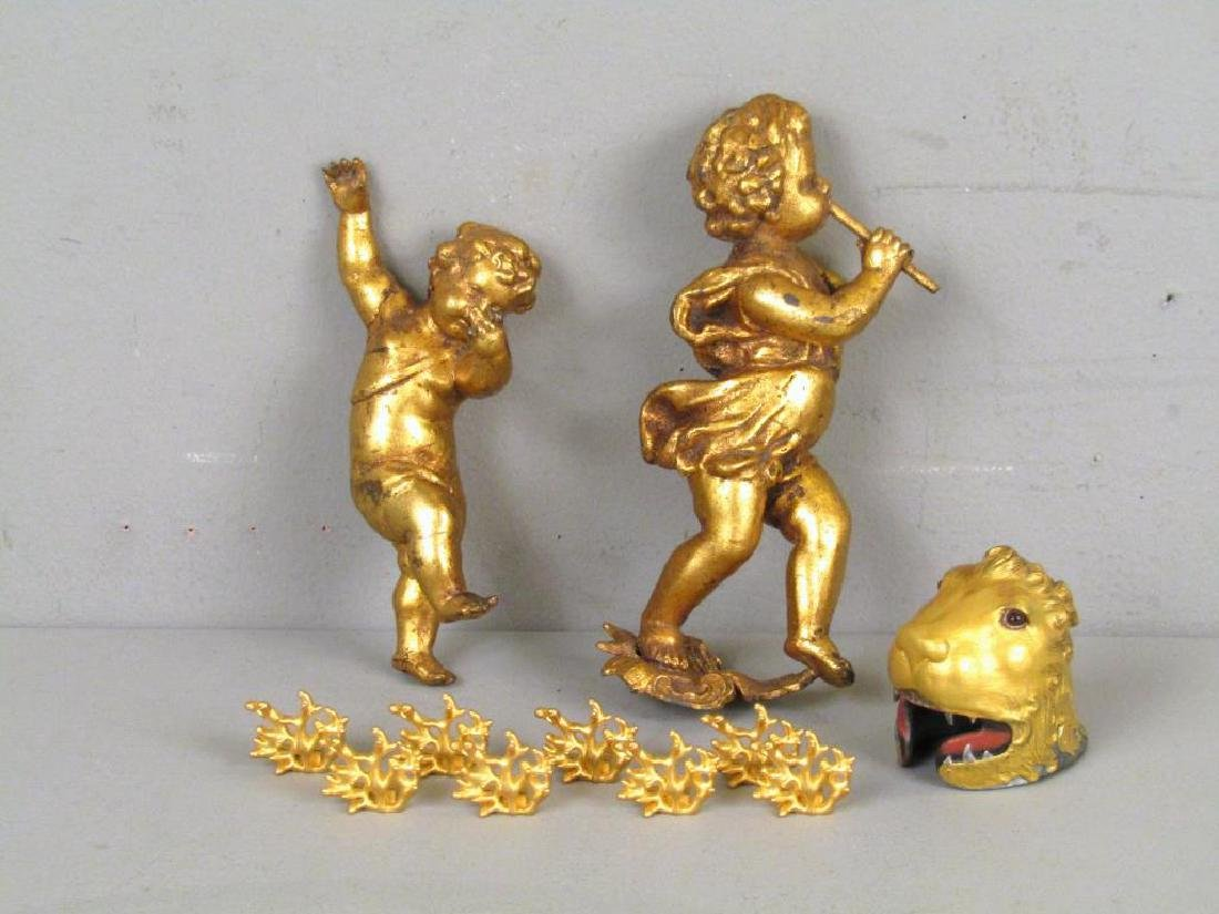 """Assorted Gilt Articles (** with Dabbing"""" Putto)"""""""