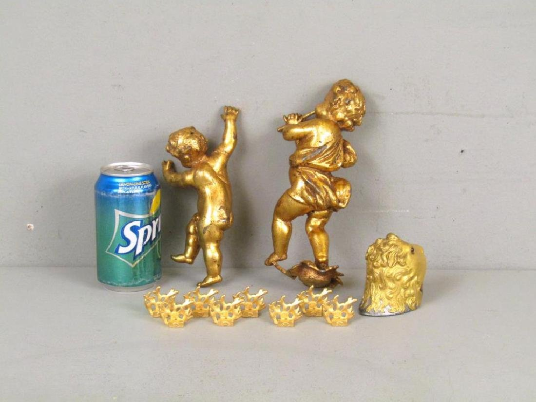 """Assorted Gilt Articles (** with Dabbing"""" Putto)"""" - 2"""