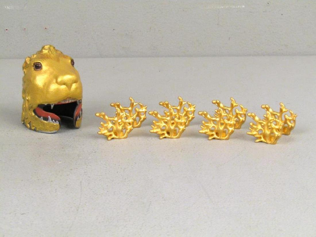"""Assorted Gilt Articles (** with Dabbing"""" Putto)"""" - 5"""