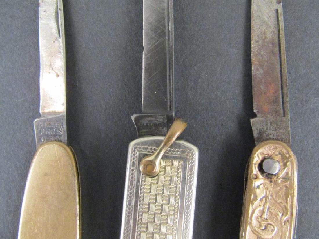 6 Gold Filled Pocket Knives - 4