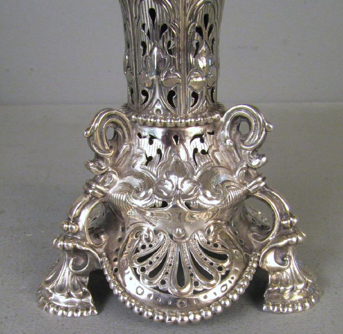 3 Piece English Silver Coupe Garniture - 8