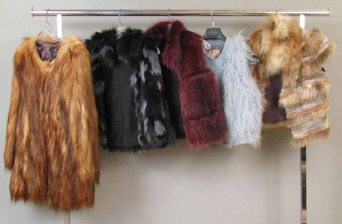 5 Faux Fur (?) Capes