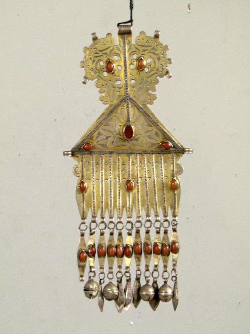 Vintage Silver Carnelian Pectoral Decoration