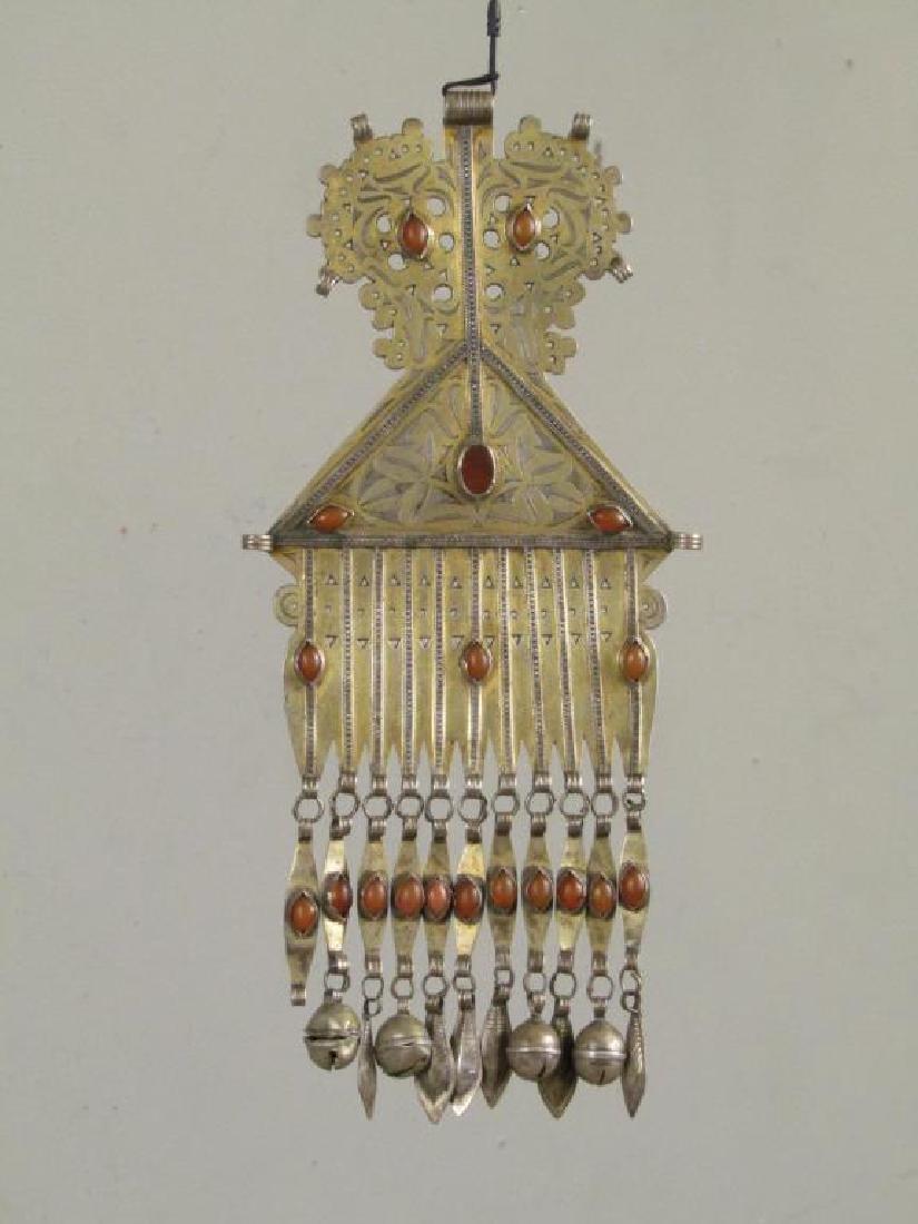Vintage Silver Carnelian Pectoral Decoration - 2