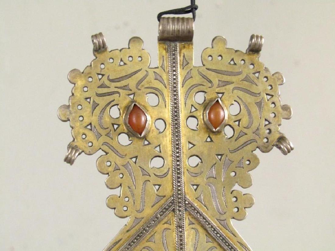 Vintage Silver Carnelian Pectoral Decoration - 3