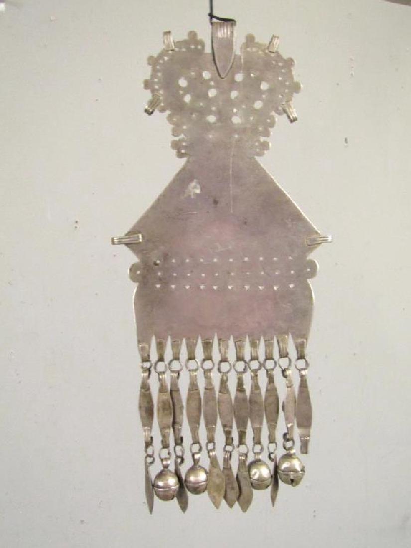 Vintage Silver Carnelian Pectoral Decoration - 6