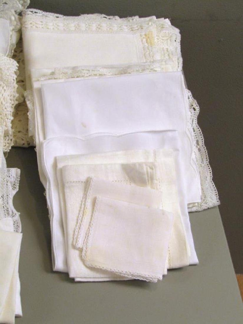 Large Lot of Assorted Linens - 6