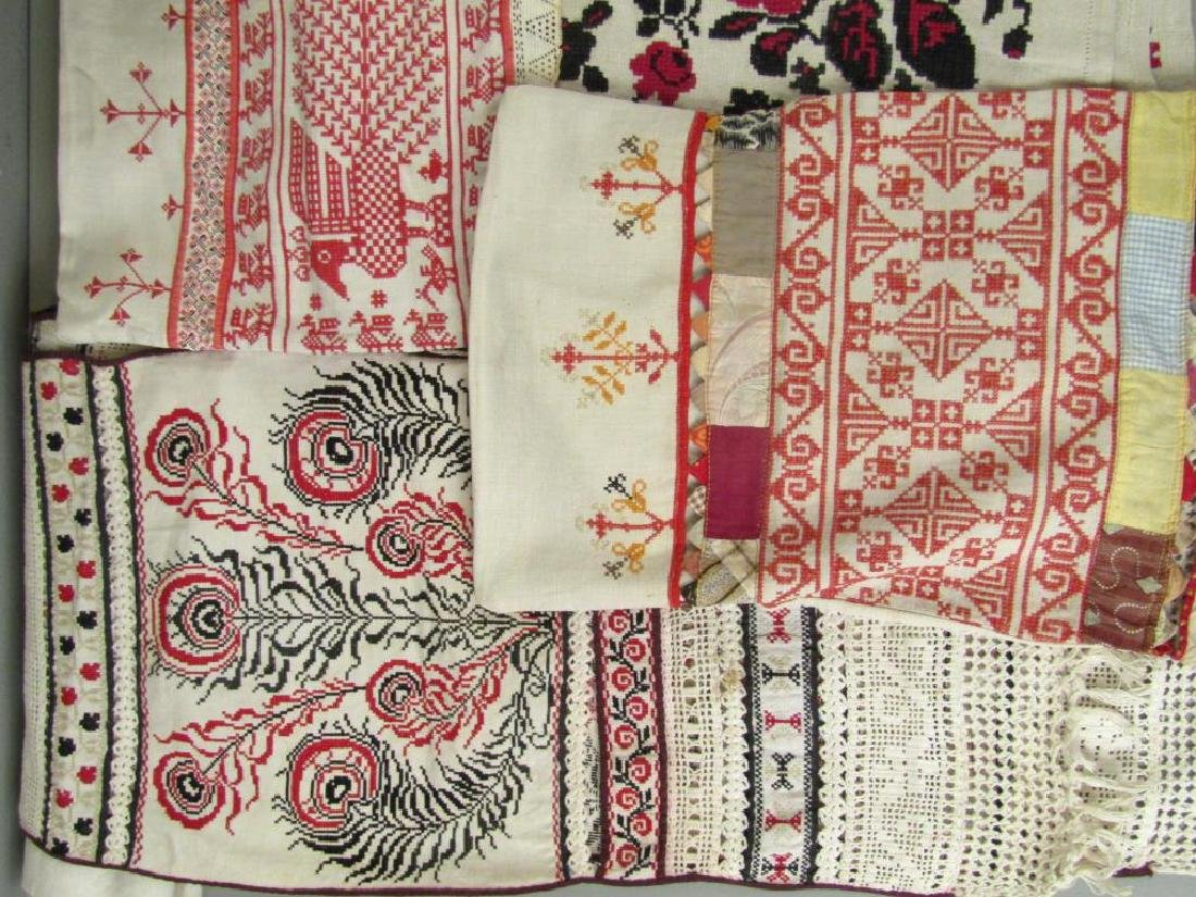 Assorted Russian Embroidered Textiles - 2