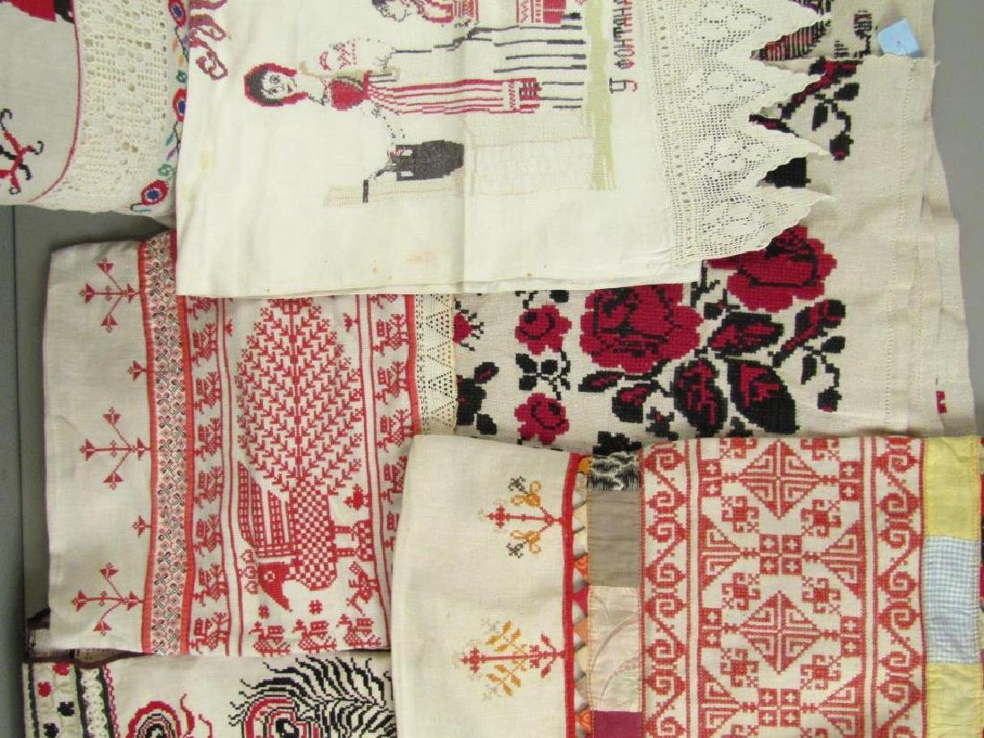 Assorted Russian Embroidered Textiles - 3