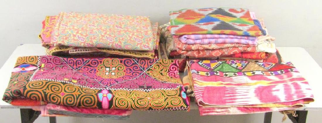 Assorted Russian and Tibetan Textiles