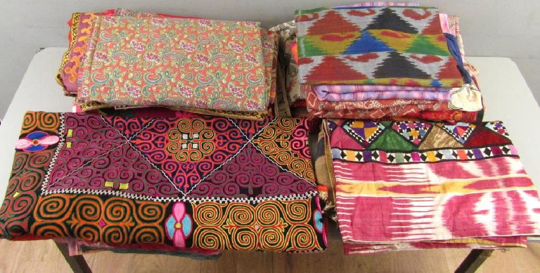 Assorted Russian and Tibetan Textiles - 2