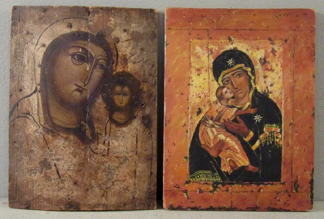 1 Antique Painted Russian Icon