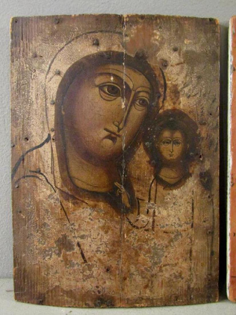 1 Antique Painted Russian Icon - 2
