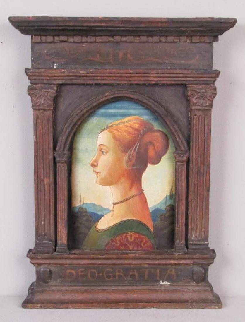 Antique Italian Portrait of a Woman