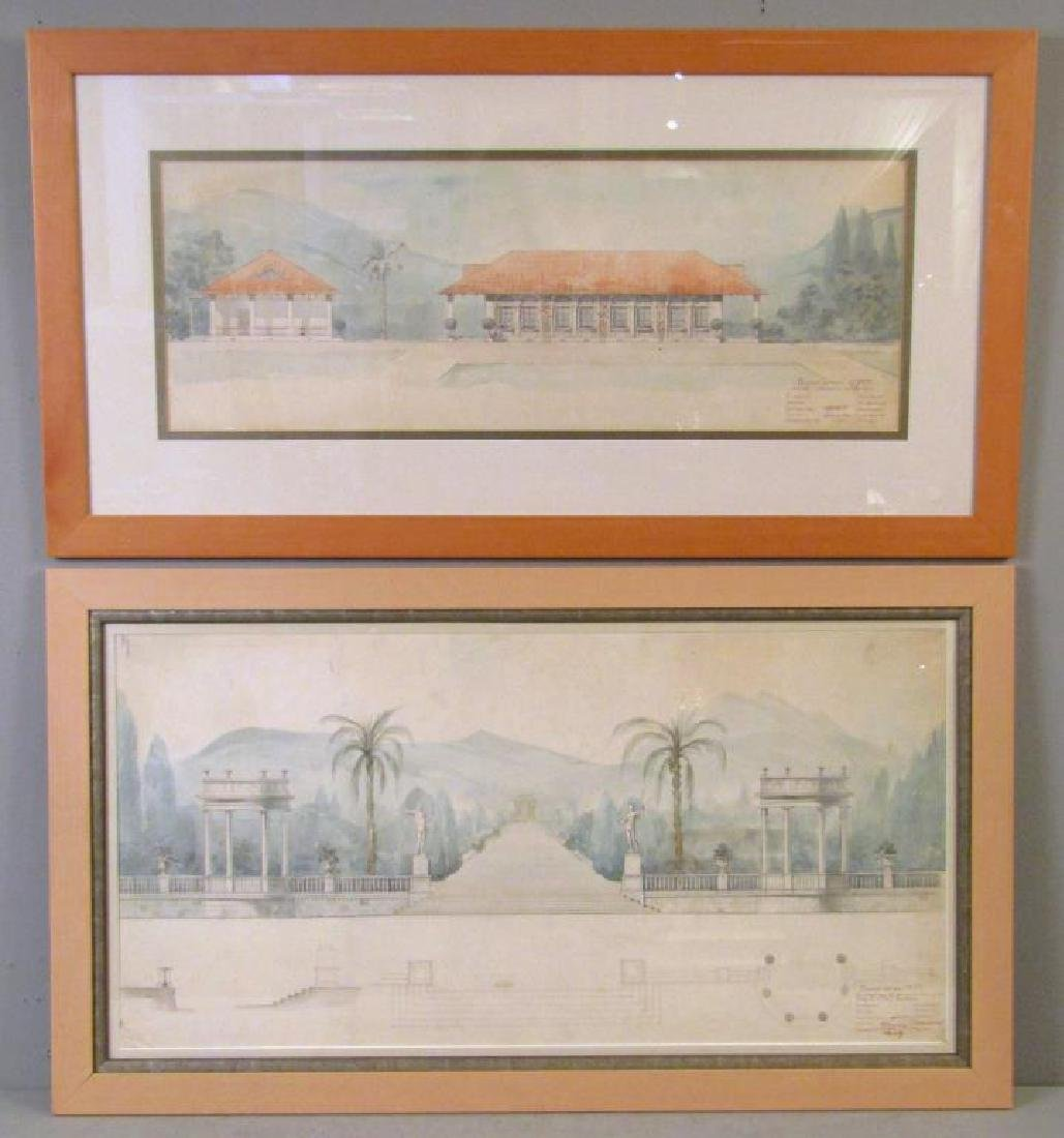 Two Russian Architectural Watercolors