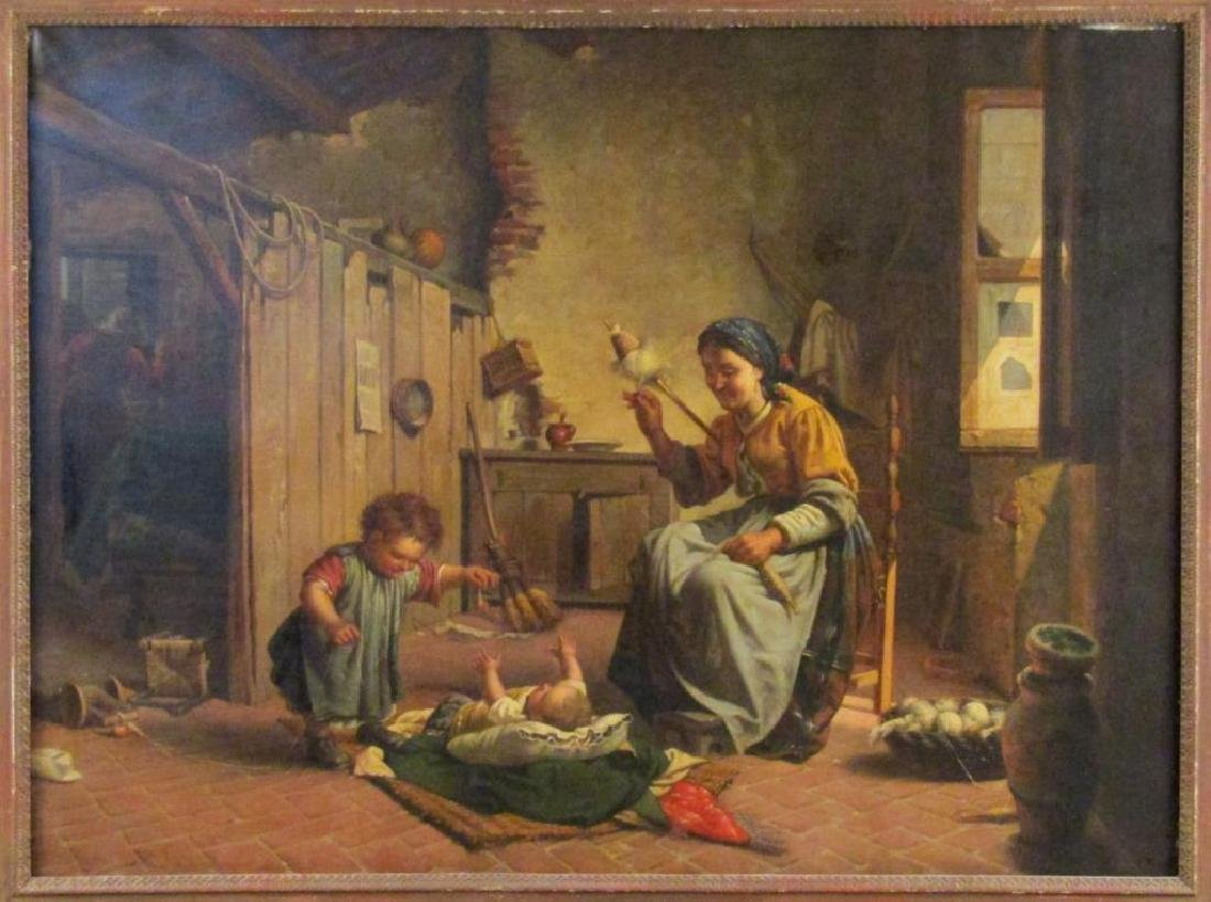 Antonio Sasso & Son - Oil on Canvas