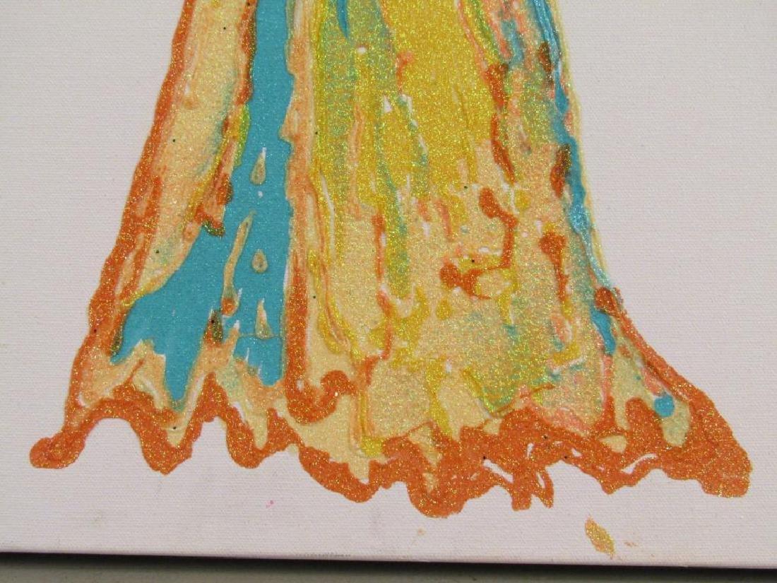 Nancy Seltzer (American) - Glitter on Canvas - 4