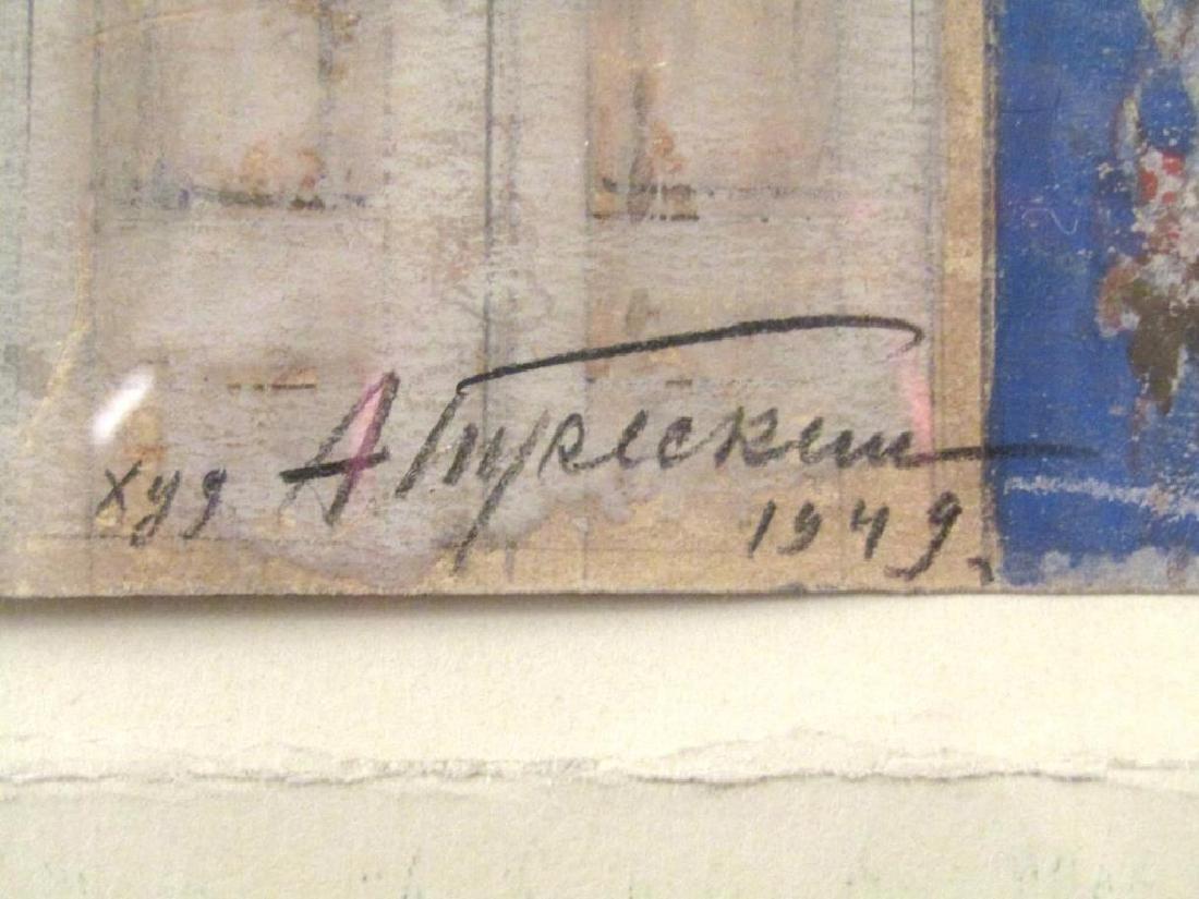 2 Signed Soviet Artworks - Mixed Media - 7