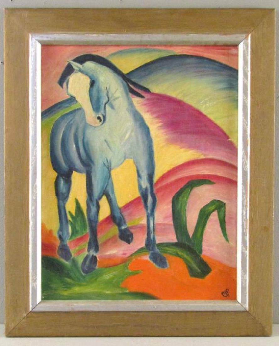 In the Manner of Franz Marc - Oil on Canvas Board - 2
