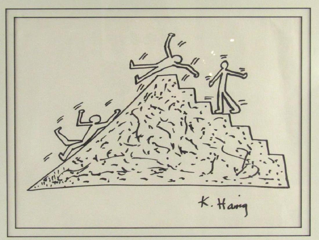 Signed Keith Haring - Ink on Paper