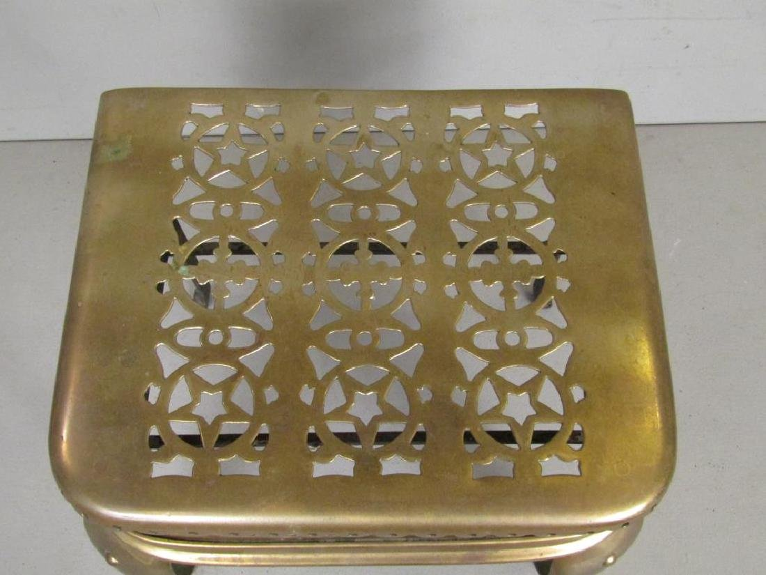 American Brass Fireplace Trivet - 3