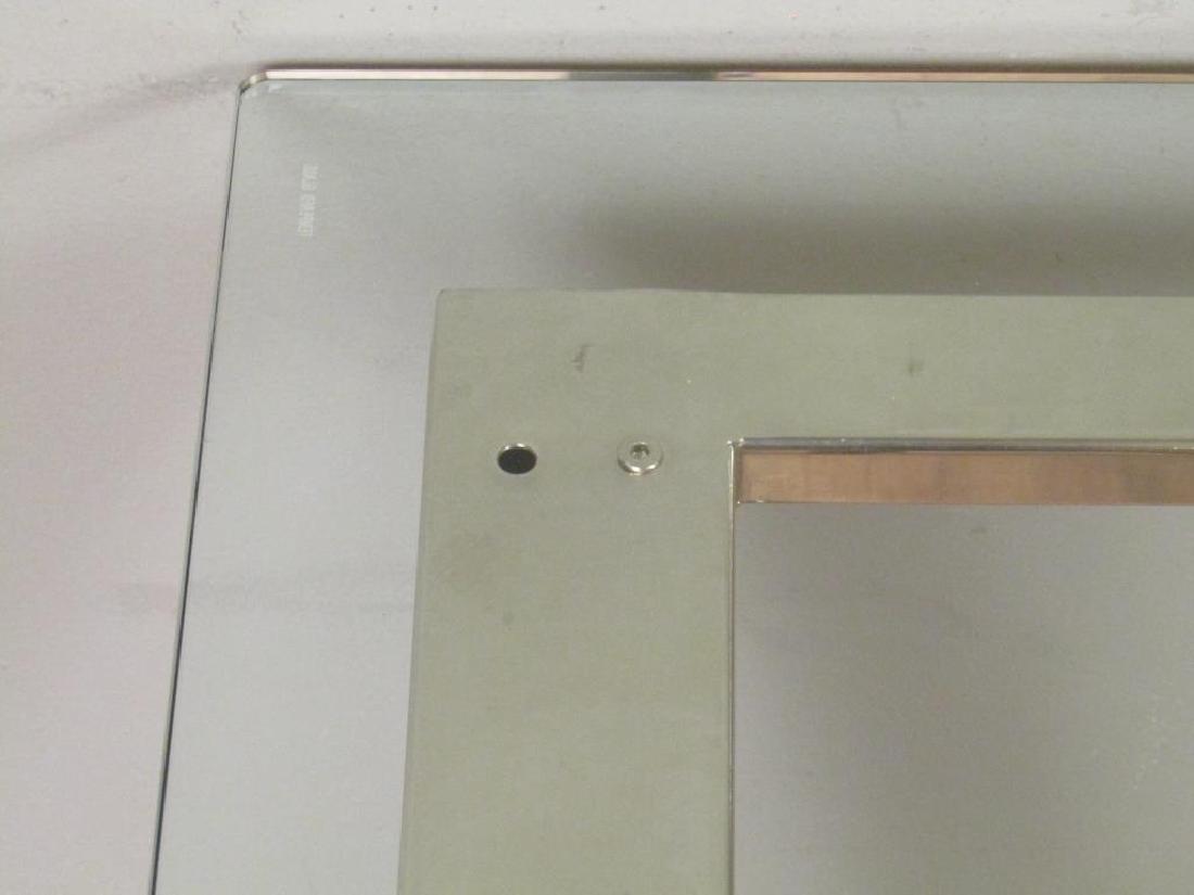 Modern Chrome and Glass Top Desk - 5
