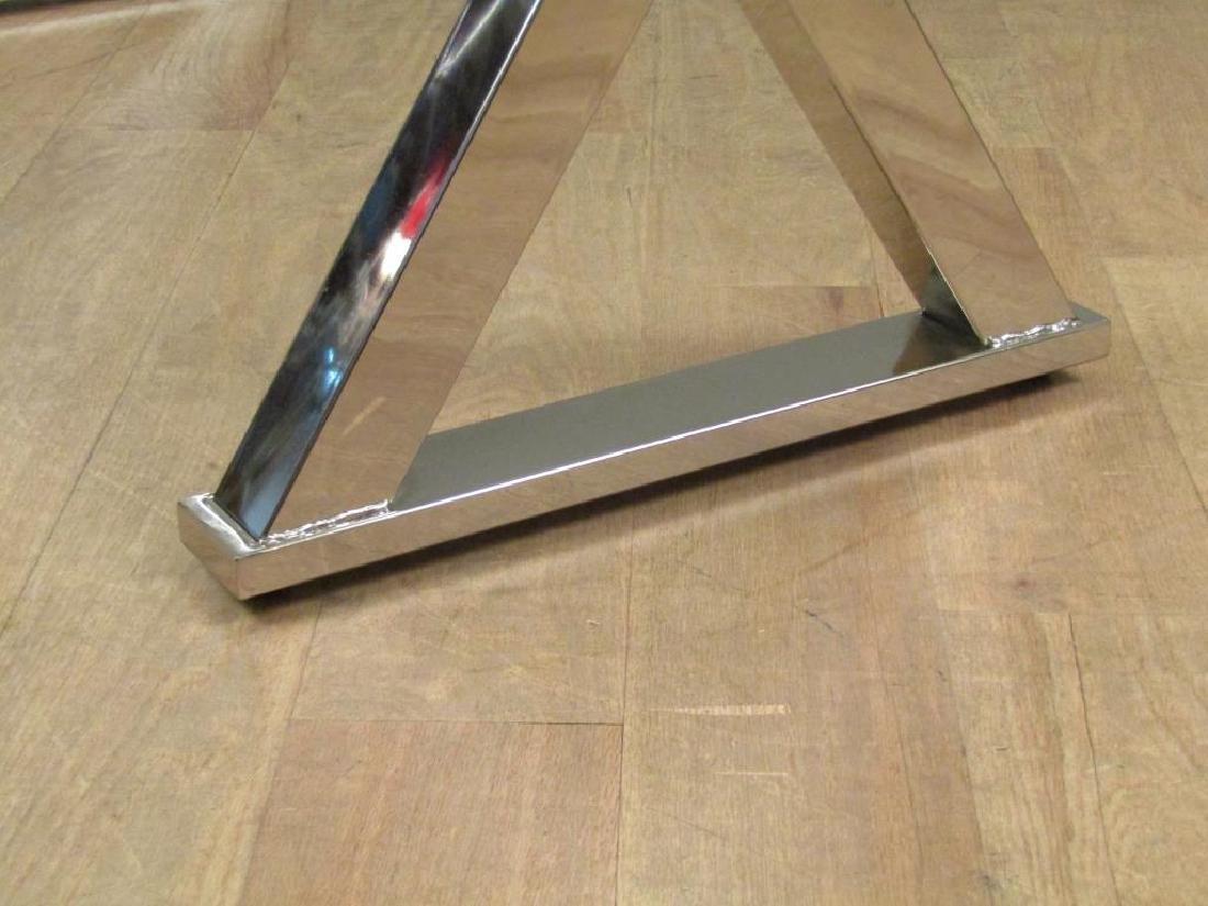 Modern Chrome and Glass Top Desk - 6