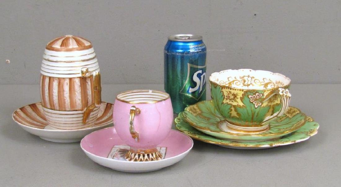 3 Porcelain Cups and Saucers (as is) - 2