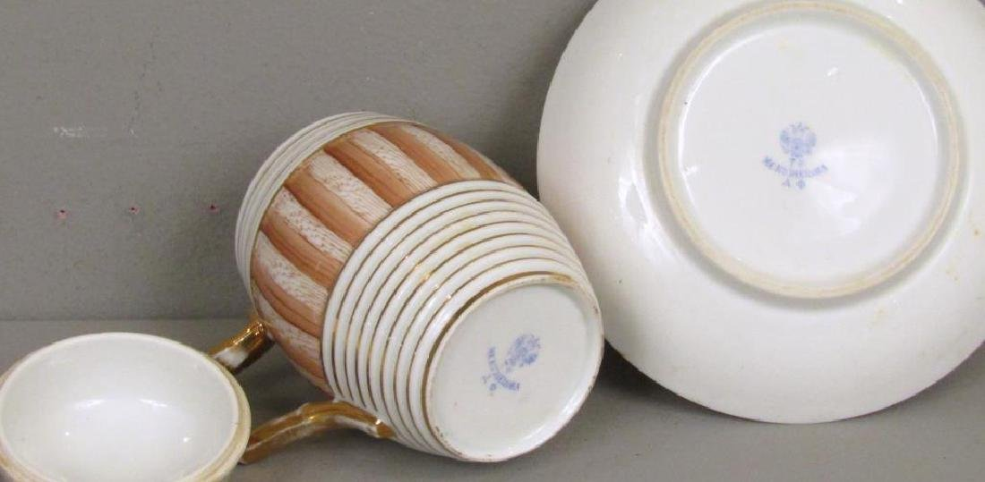 3 Porcelain Cups and Saucers (as is) - 4