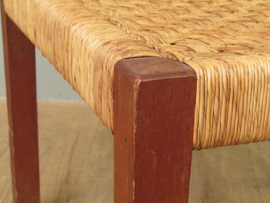 Danish Modern Style Woven Seat Bench - 3