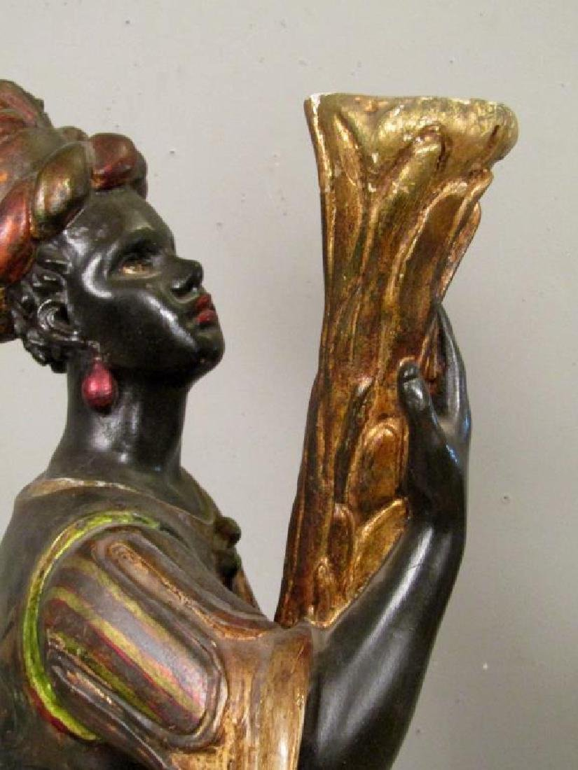 Gilt and Painted Blackamoor Torchiere - 4