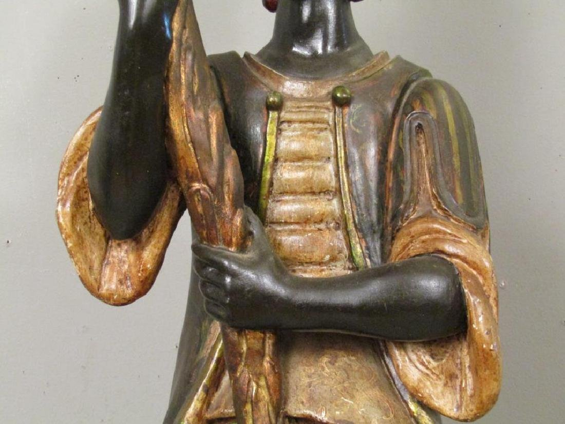 Gilt and Painted Blackamoor Torchiere - 5