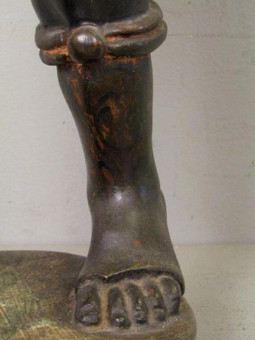 Gilt and Painted Blackamoor Torchiere - 8