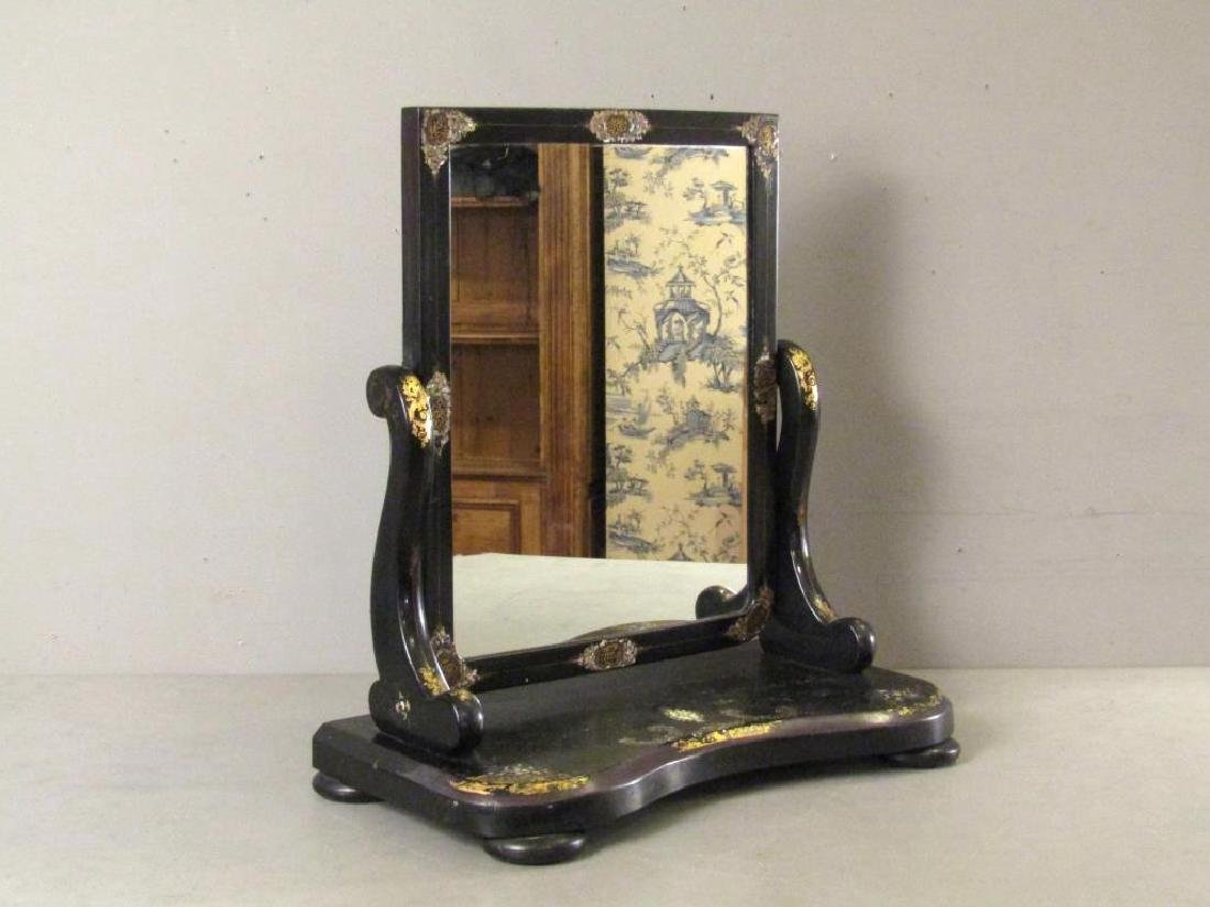 English Japanned Vanity Mirror
