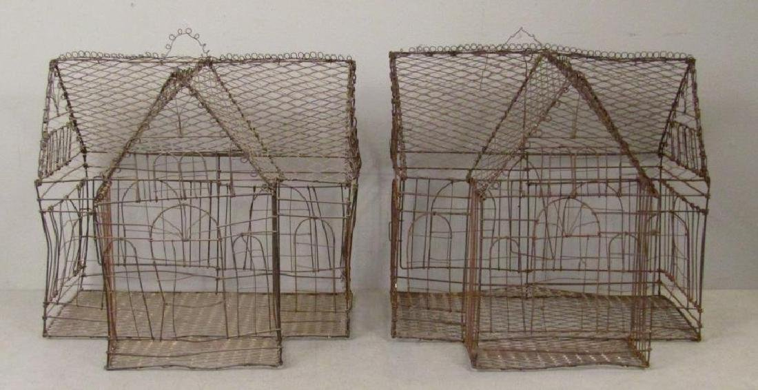 Pair Wire Bird Cages