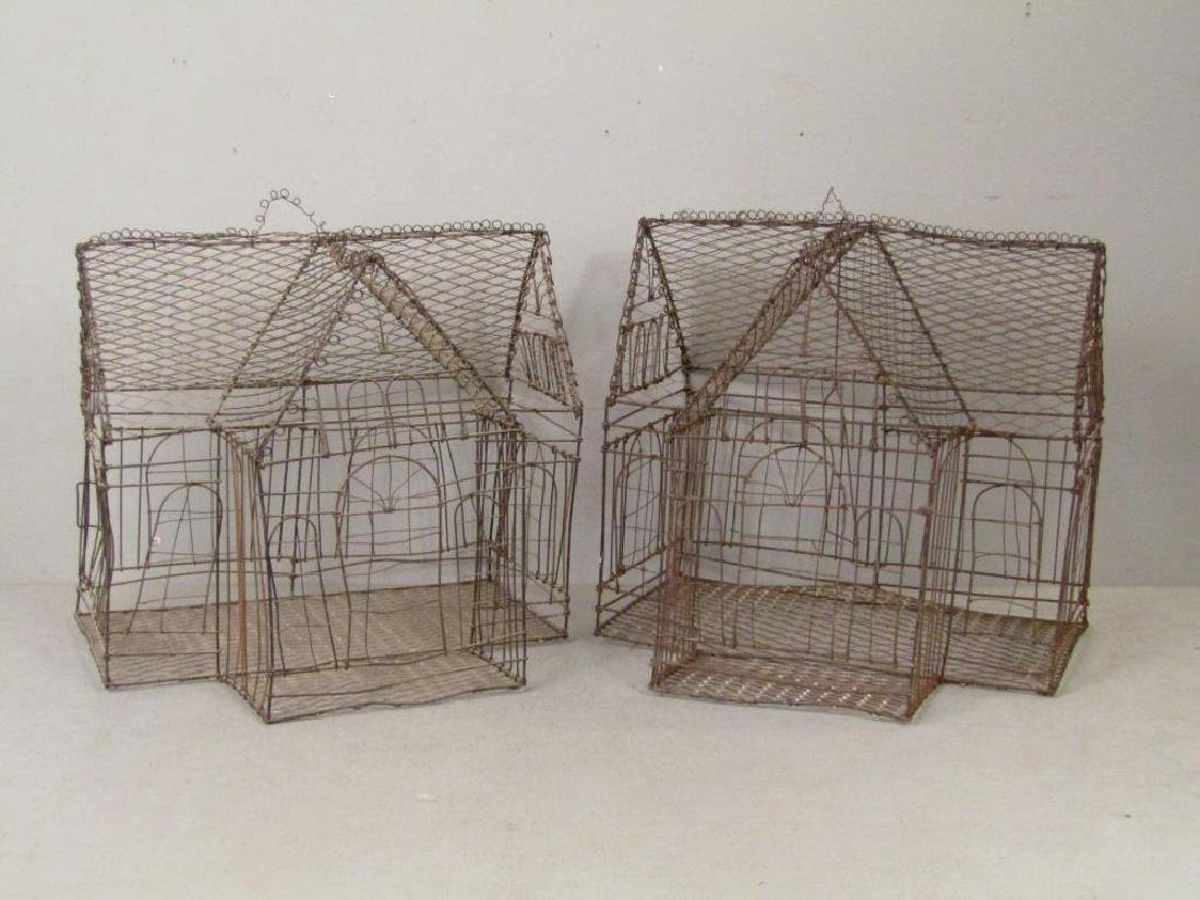 Pair Wire Bird Cages - 2