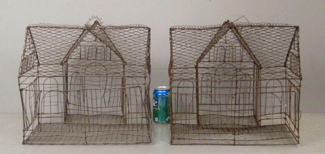 Pair Wire Bird Cages - 3