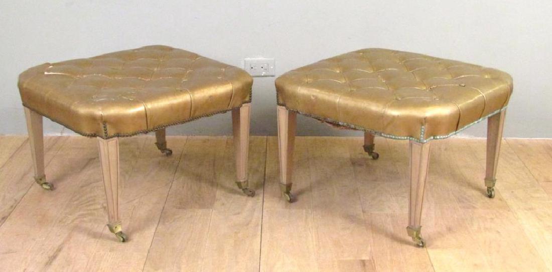 Pair Mid Century Style Stools