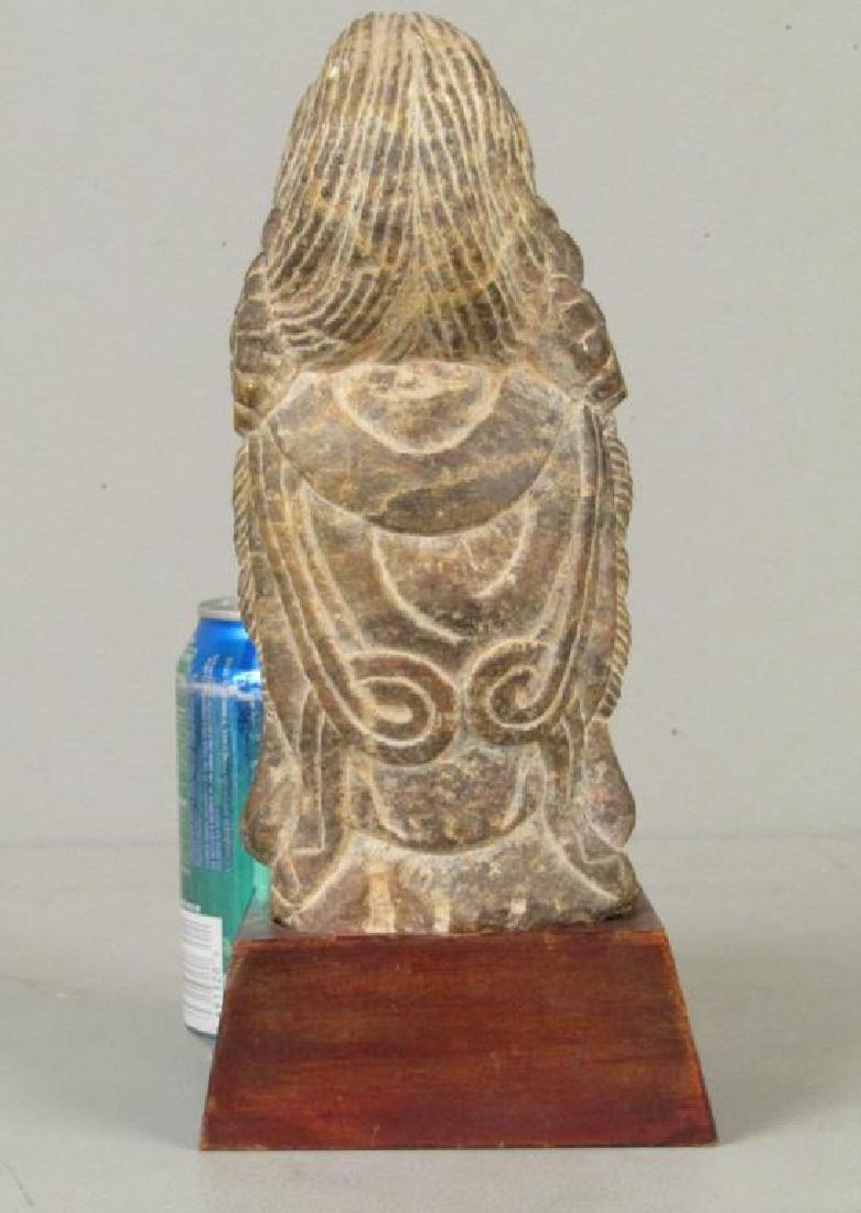 Carved Stone Buddha Head - 2