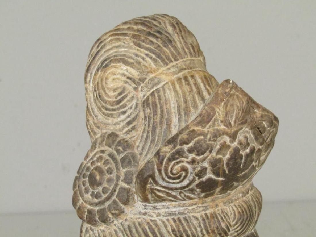 Carved Stone Buddha Head - 4