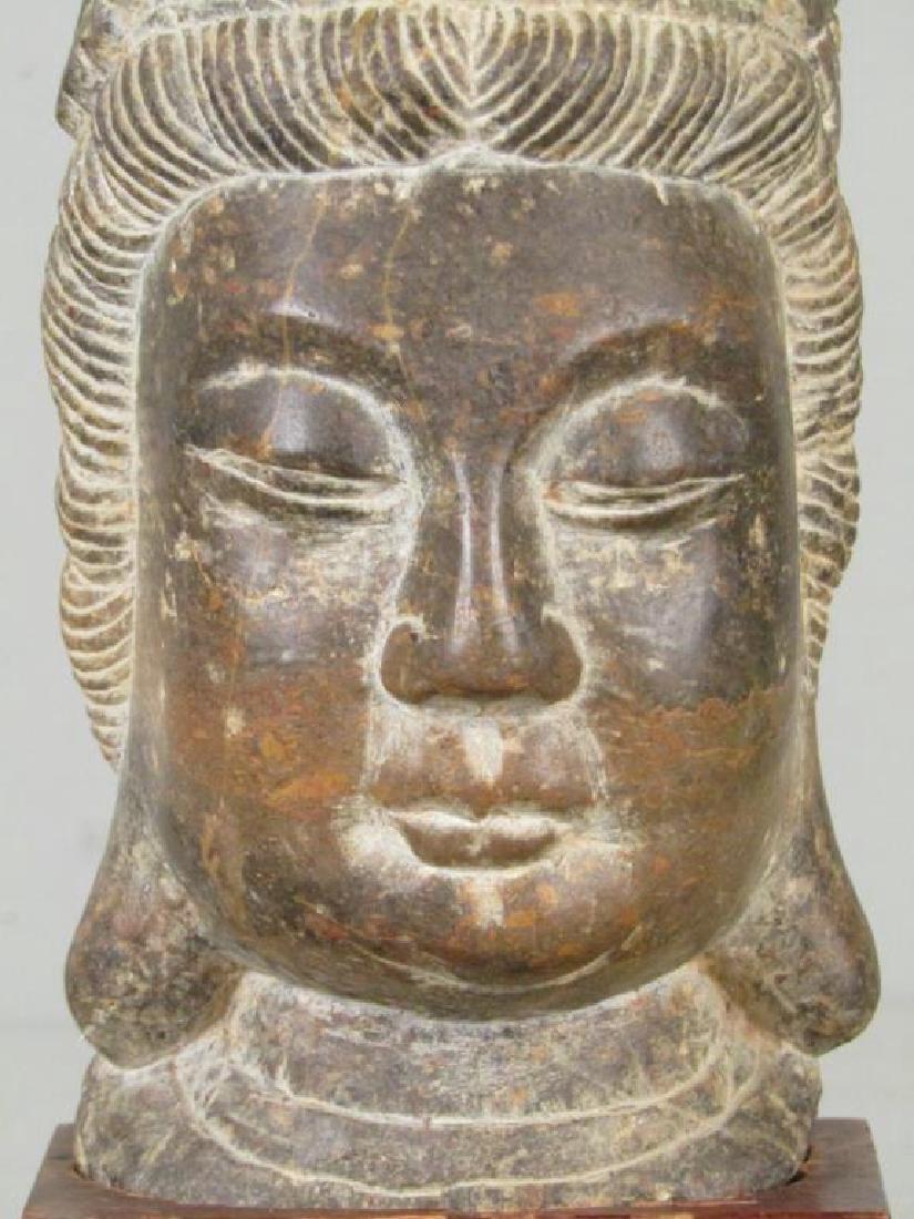 Carved Stone Buddha Head - 5