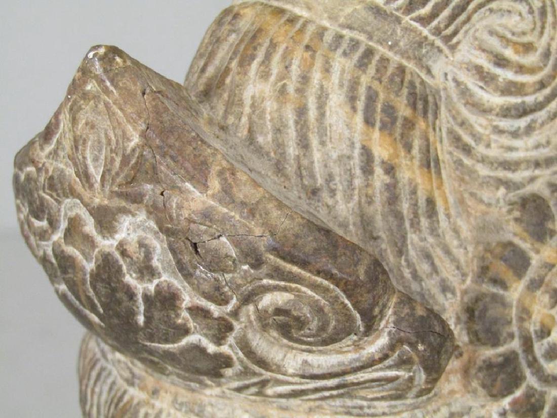 Carved Stone Buddha Head - 7