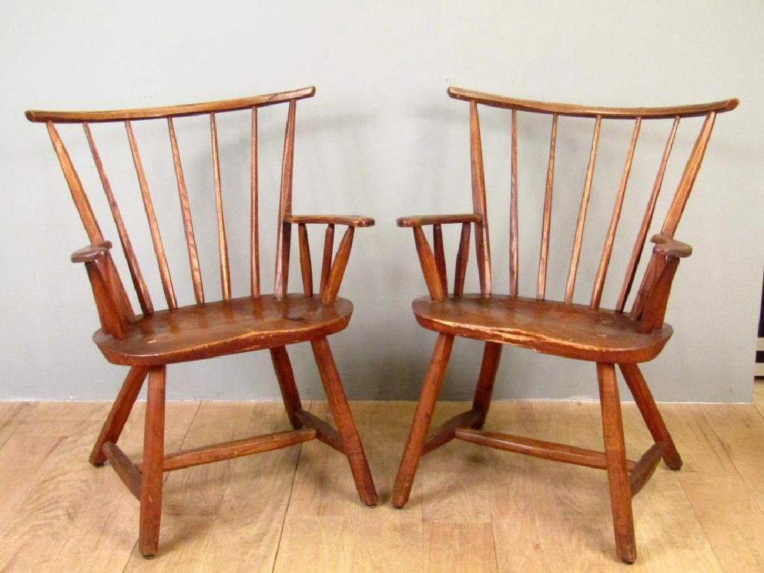 Pair of Antique Style Arm Chairs by Hunt, NY