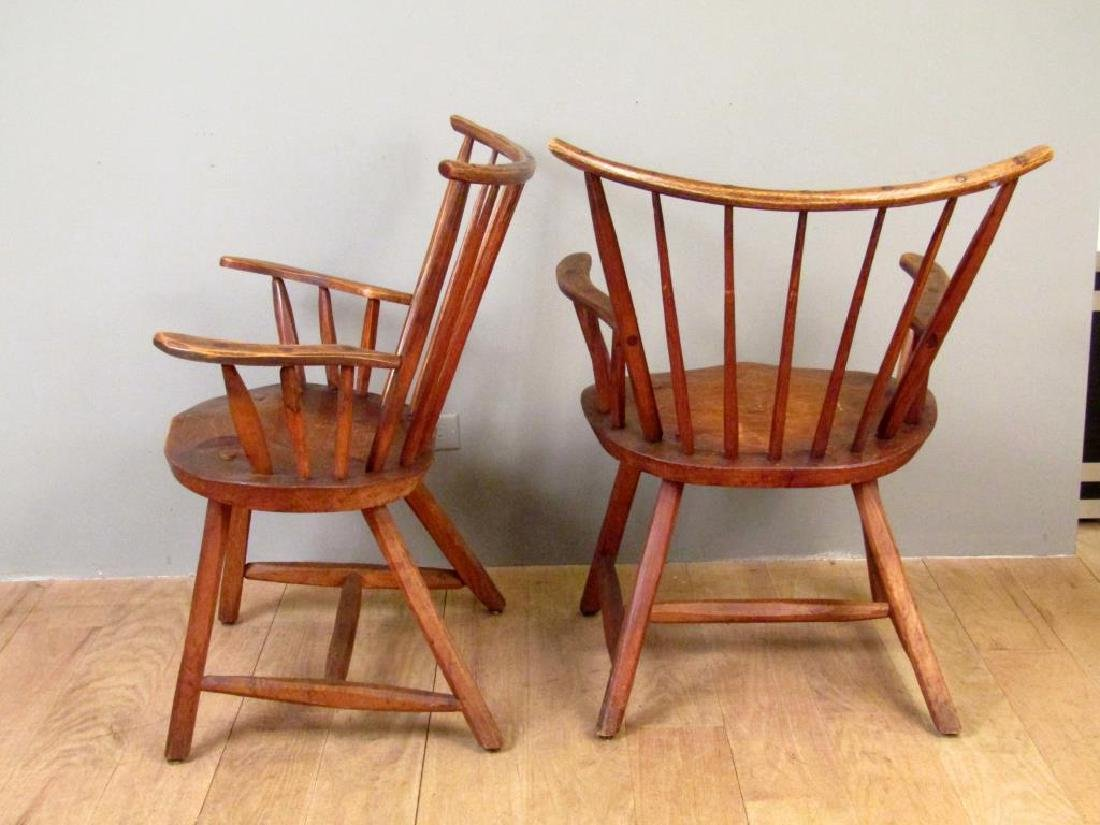 Pair of Antique Style Arm Chairs by Hunt, NY - 2