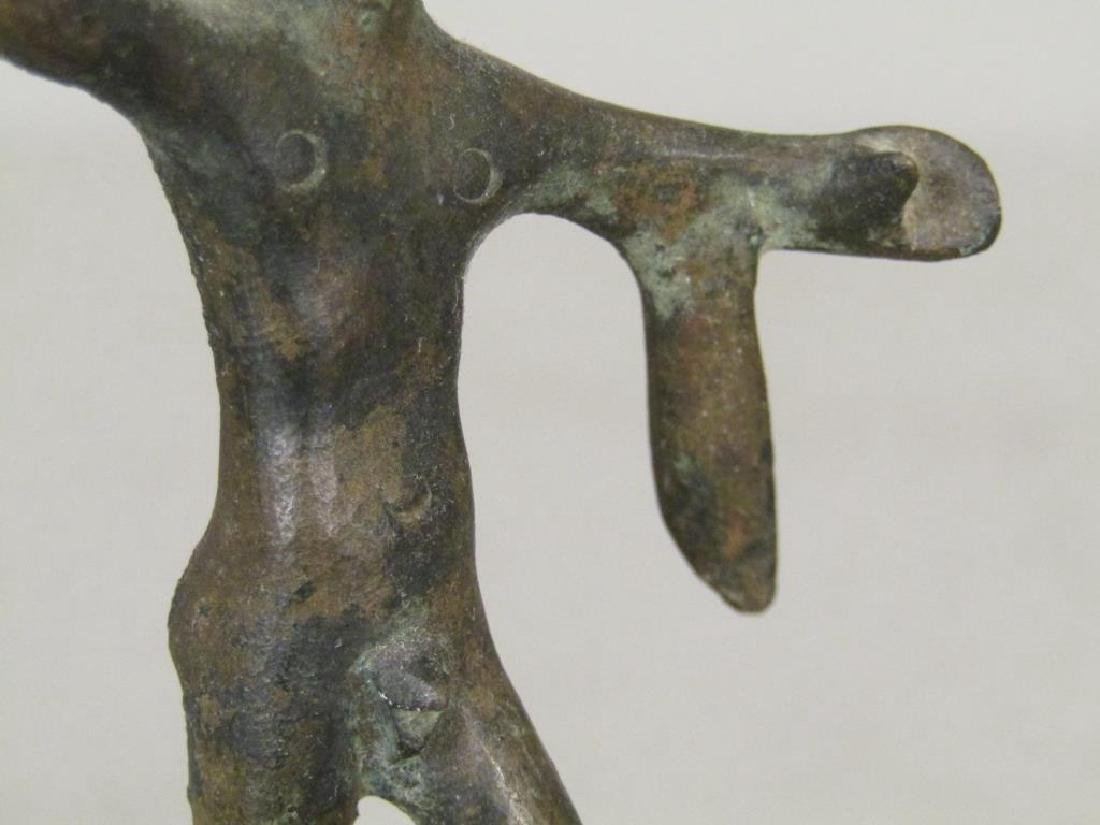2 Bronze and one Wood Figure - 5