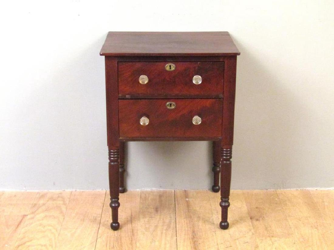American Empire Mahogany End Table