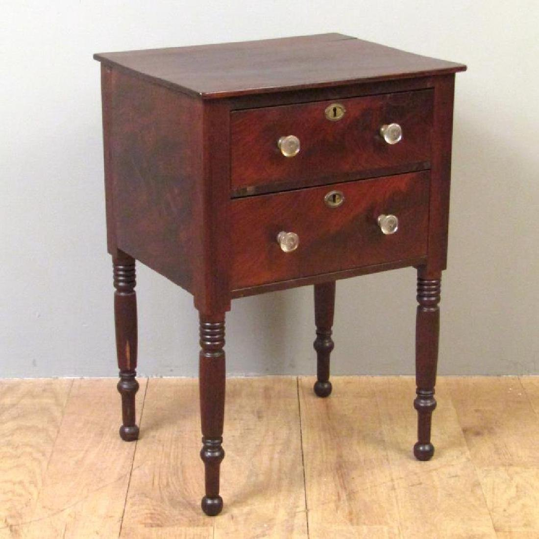American Empire Mahogany End Table - 2